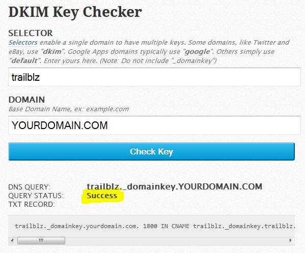 DKIM Checking Tool