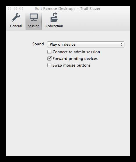 Trail Blazer Configure Microsoft Remote Desktop 8 - For Mac