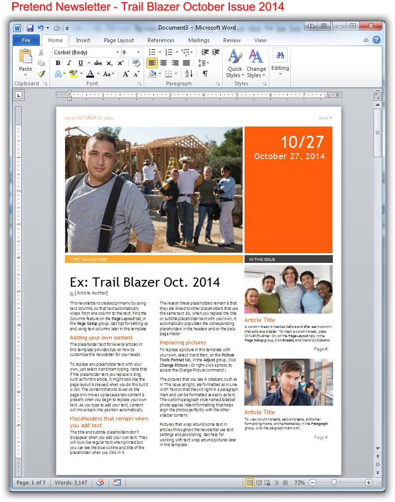 Create newsletter-style columns