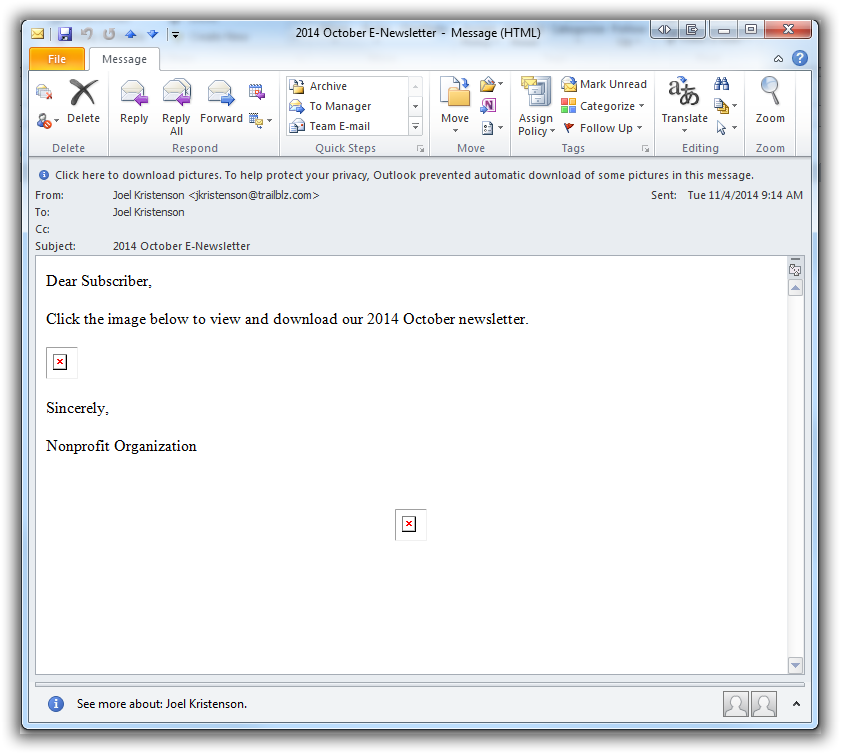 print hyperlinks from outlook pdf