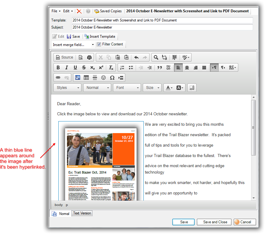 how to send a pdf newsletter by email