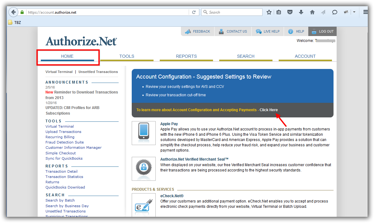 Trail Blazer How to Setup and Activate your Authorize Net