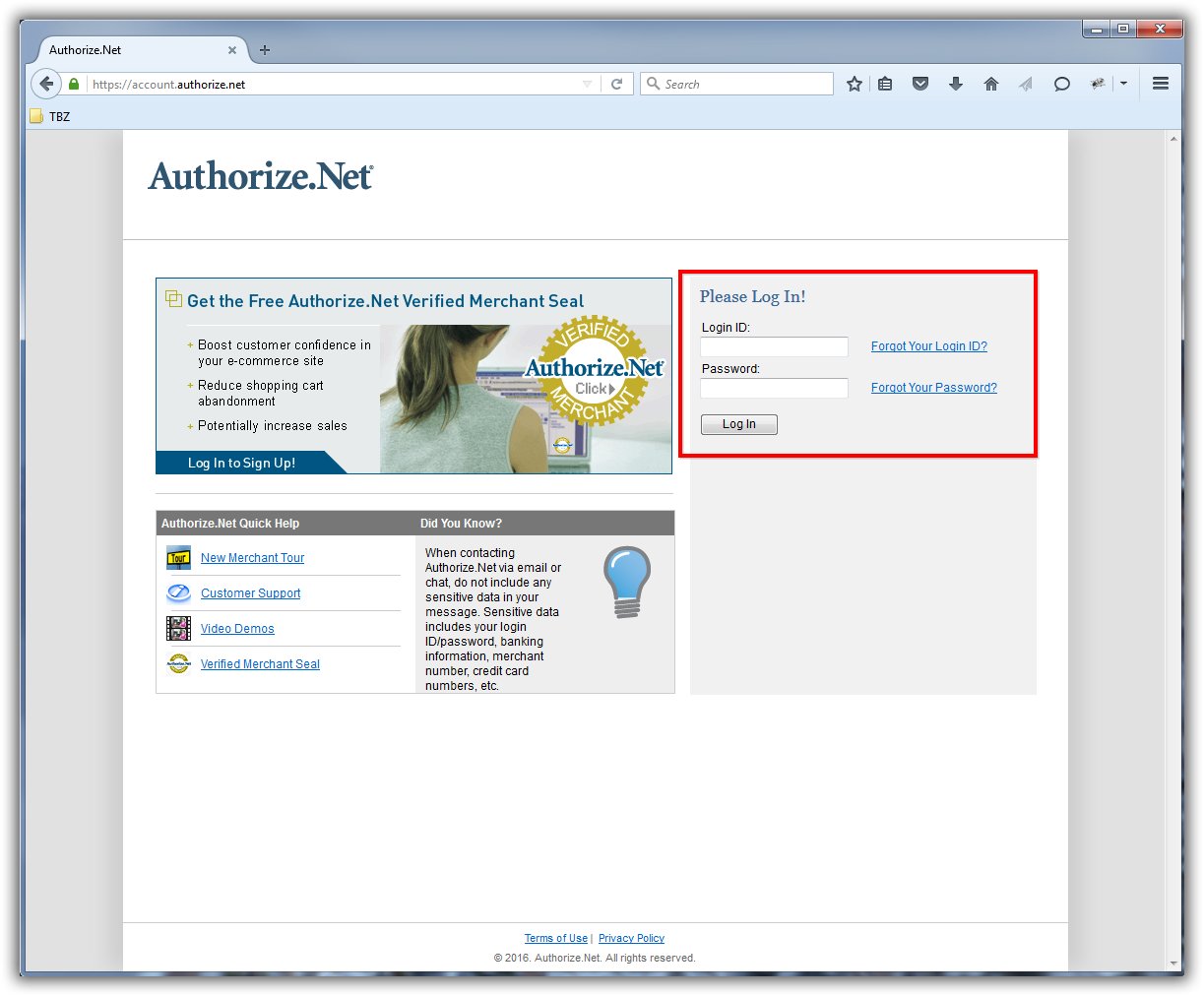 Trail Blazer How to Setup and Activate your Authorize Net Account