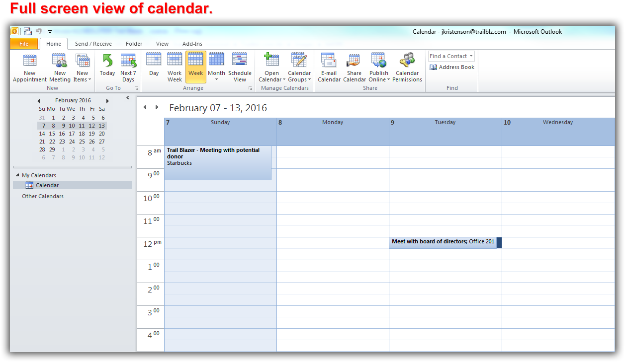 Trail Blazer How to Share your Trail Blazer iCalendar as an ics File