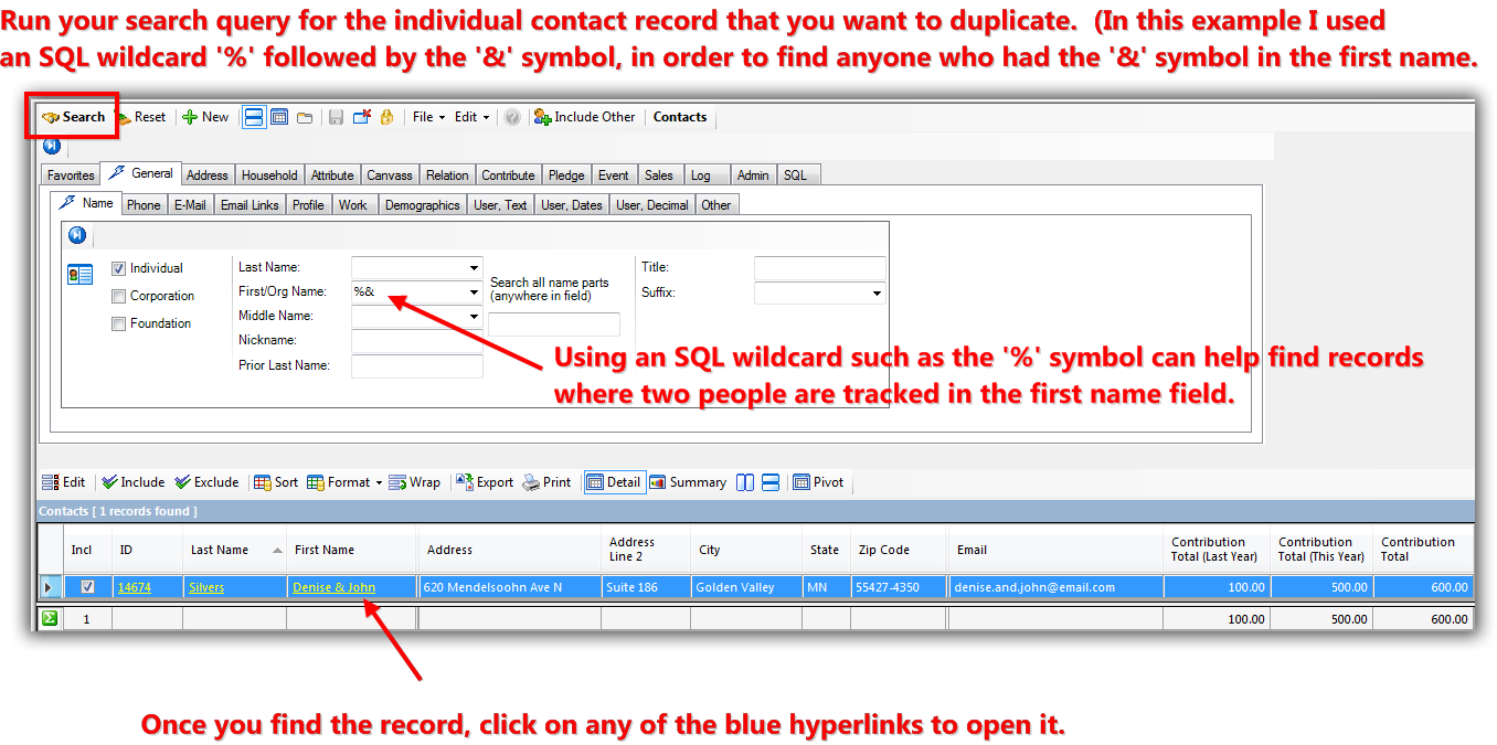 Trail Blazer How to Split a Single Contact Record into a Duplicate