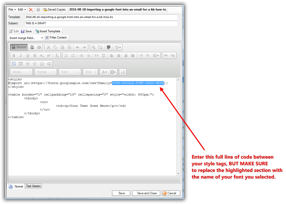 Trail Blazer How to Import a Google Web Font into your Trail