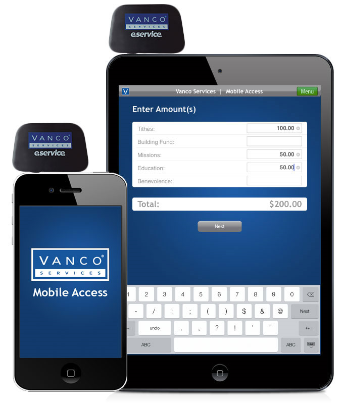 Vanco Card Swipe iPhone iPad